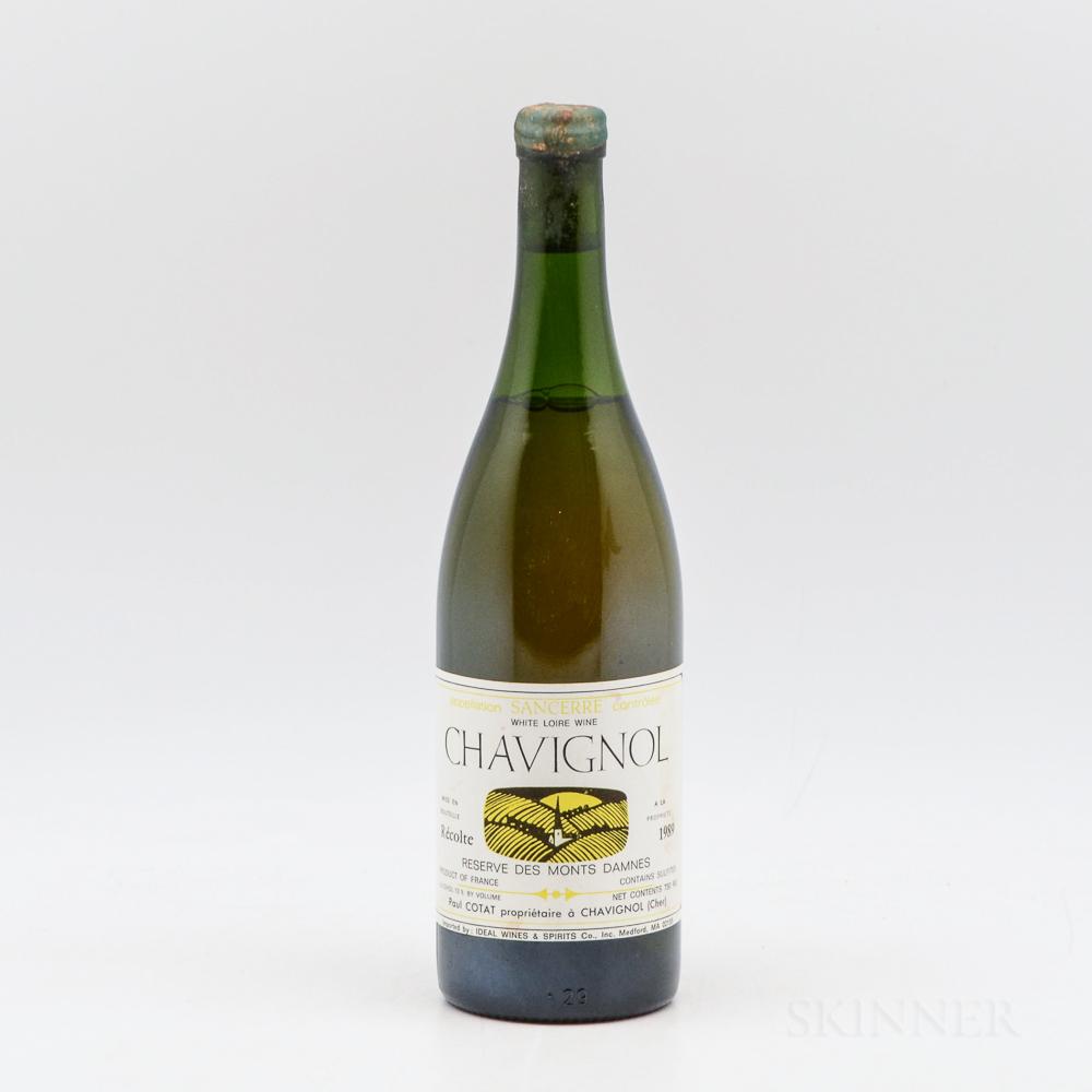 Paul Cotat Chavignol Reserve des Monts Damnes 1989, 1 bottle