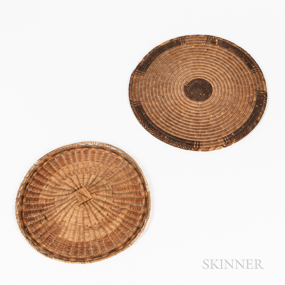 Two Southwest Basketry Trays
