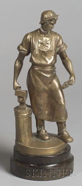 French Bronze Figure of an Ironworker