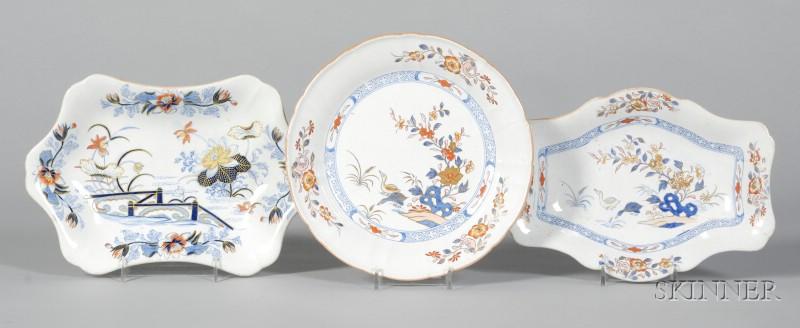 Three Wedgwood Stone China Dishes