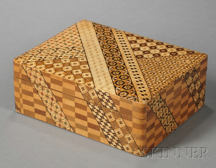 Japanese Yosegi Parquetry Inlaid Box