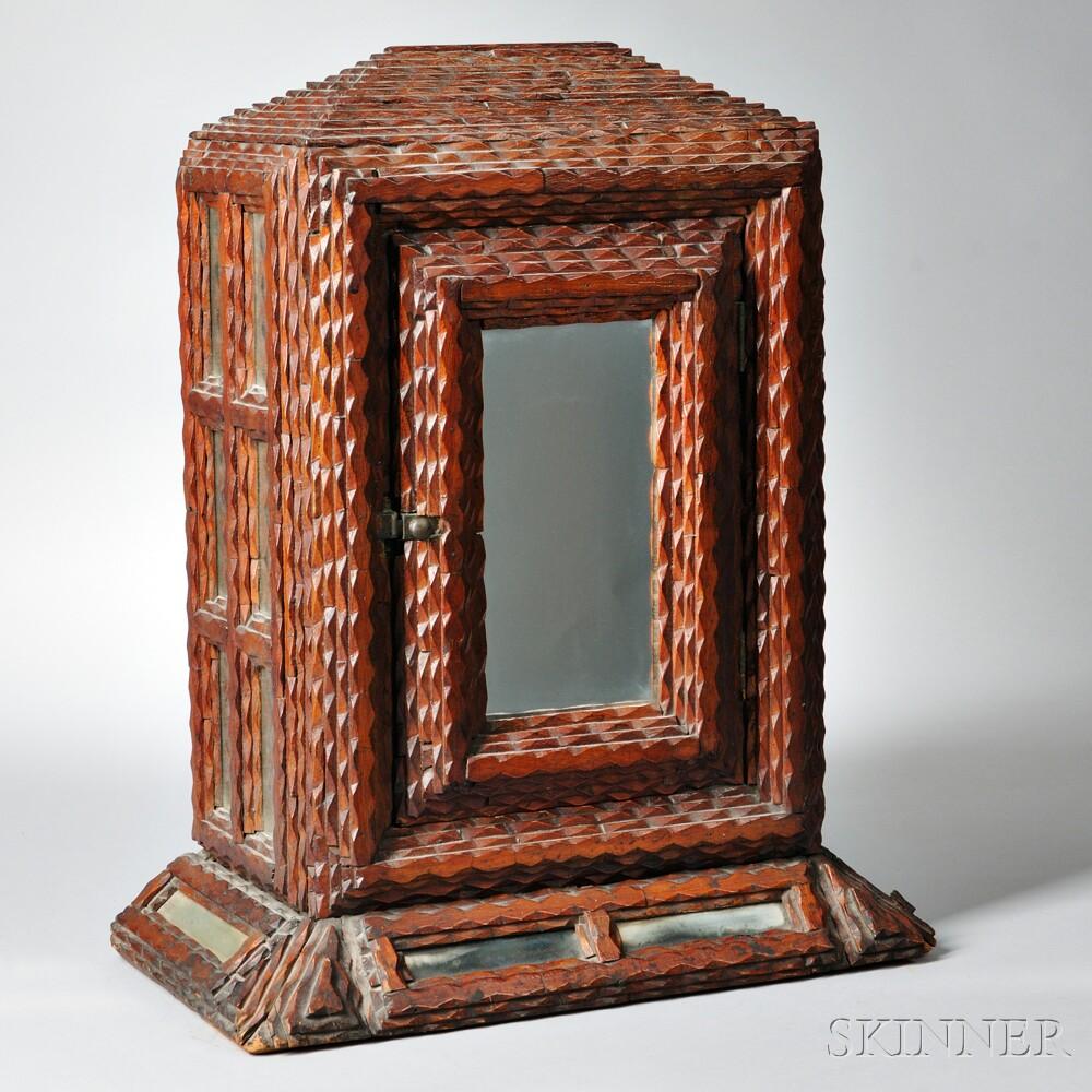 Tramp Art Cabinet
