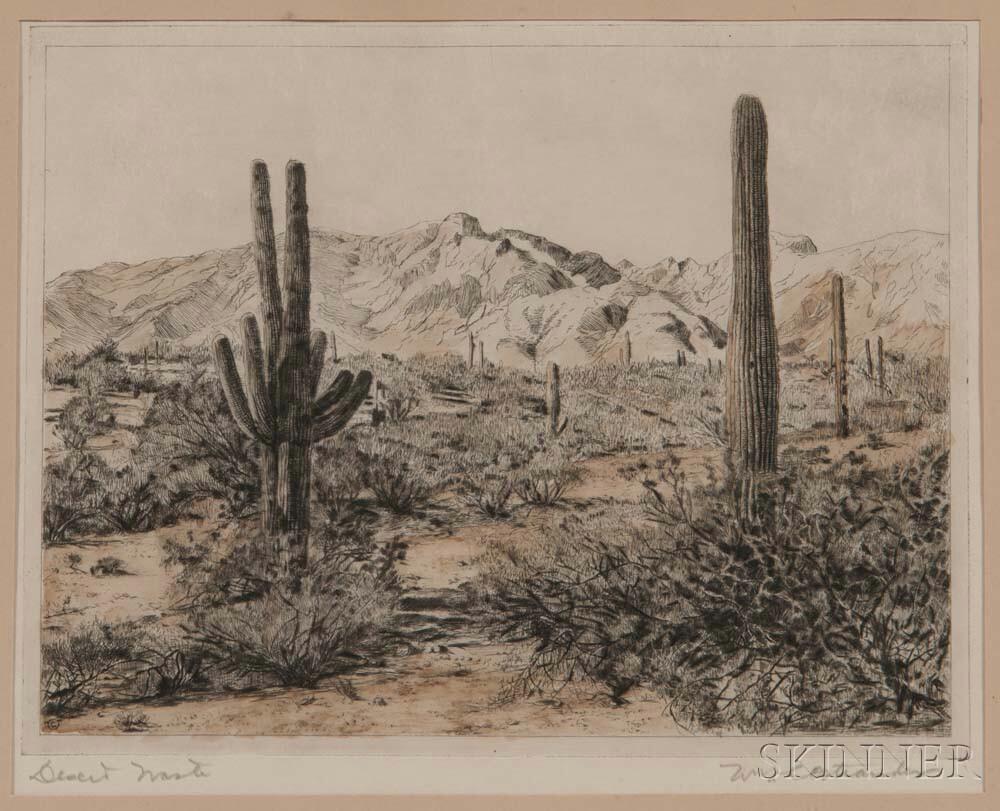 William Cheesborou Ostrander (American, 1858-1934)      Desert Waste