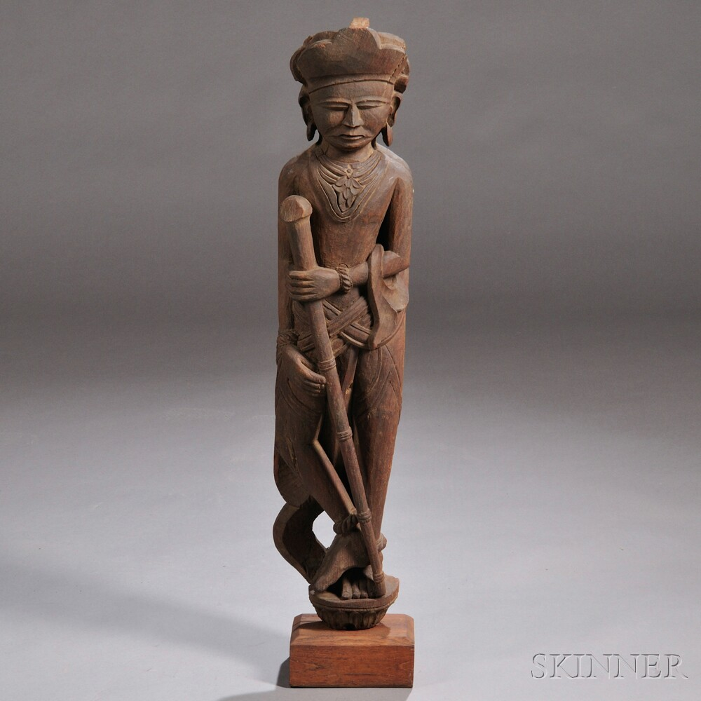 Carved Wood Standing Figure