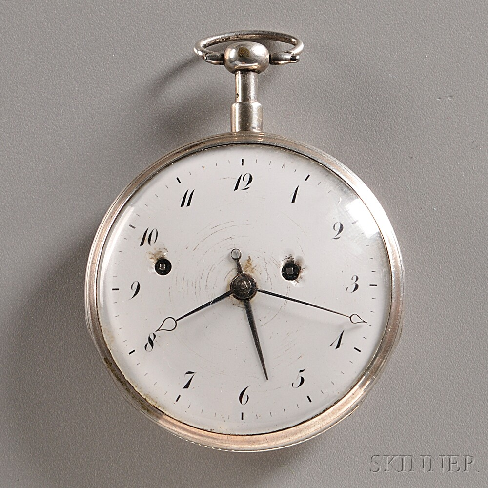 Silver Quarter-repeating Alarm Watch