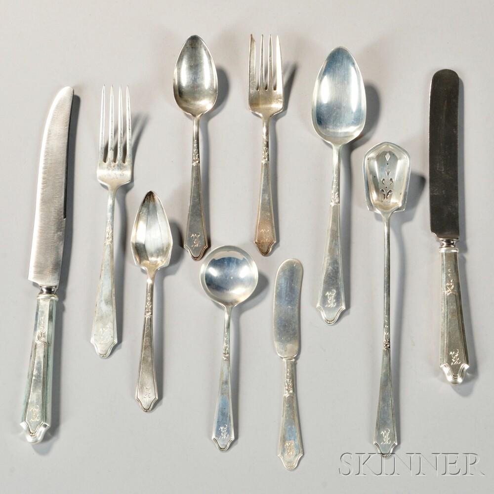 "Lunt ""Chateau"" Pattern Sterling Silver Flatware Service"