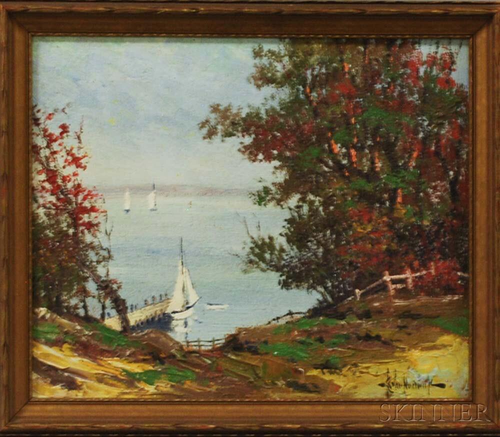 Chester Van Nortwick (New England, 1881-1944)       Harbor Scene