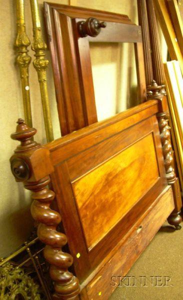Victorian Mahogany and Mahogany Veneer Bed with Short Canopy.      Estimate $150-200