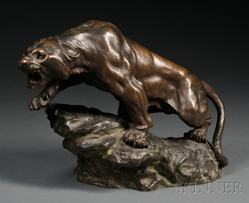 Bronze Figure of a Panther