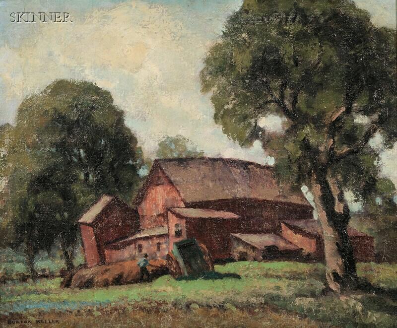 R. Burton Keeler (American, b. 1886)      Landscape with Barn.
