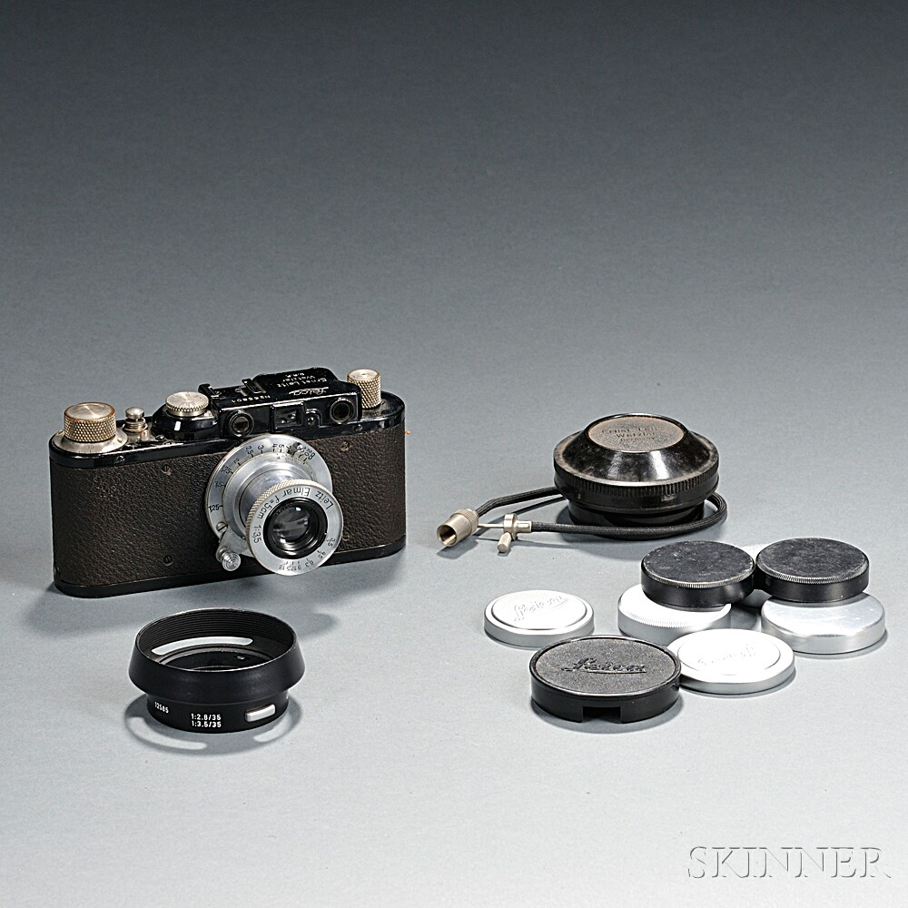 Black Leica IId with Elmar Lens