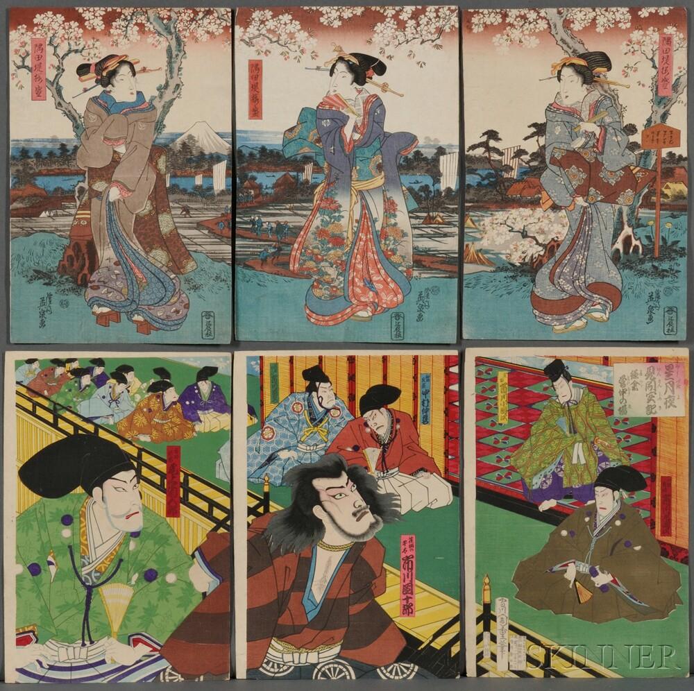 Seven Woodblock Triptychs