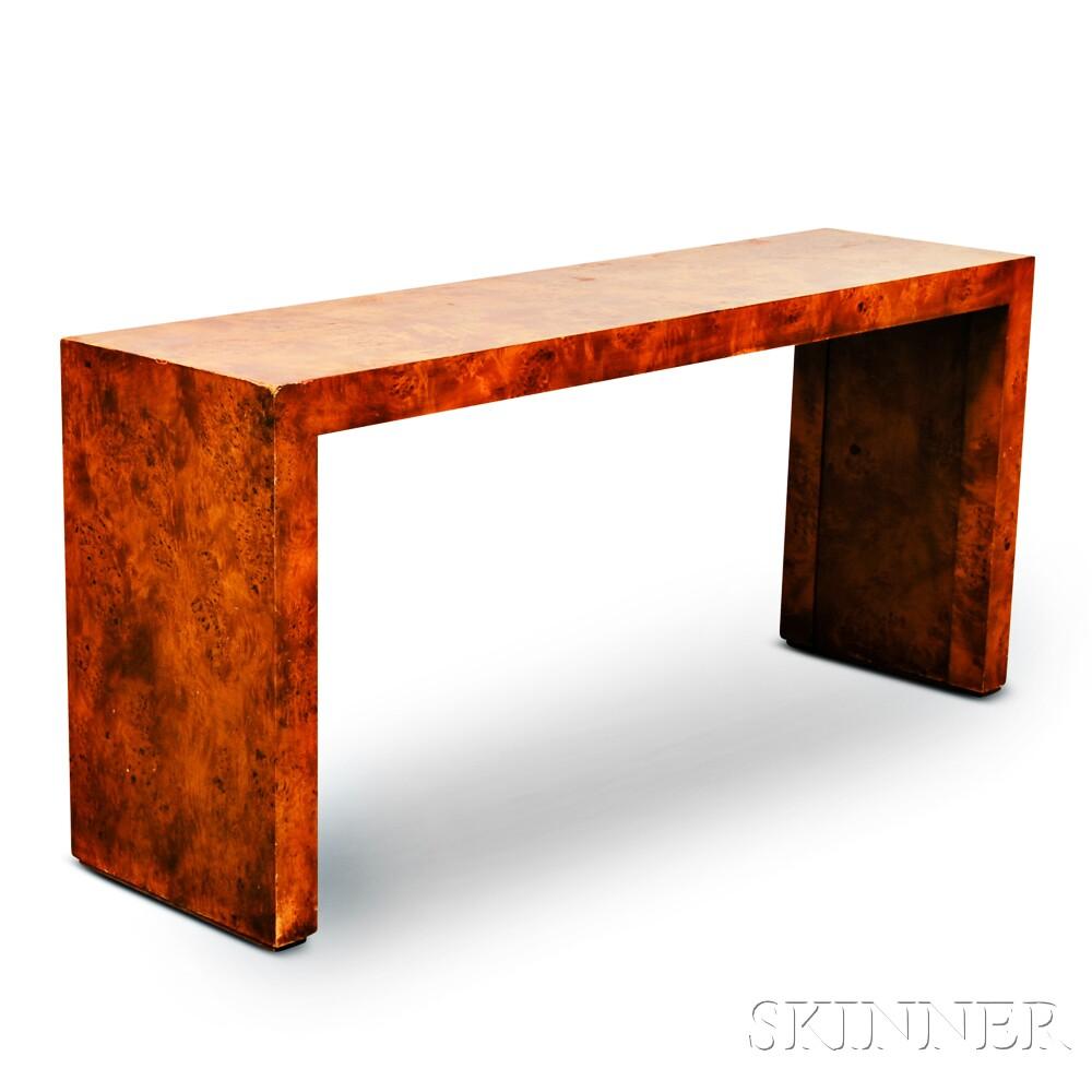 Milo baughman thayer coggin sofa table for Sofa table restaurant