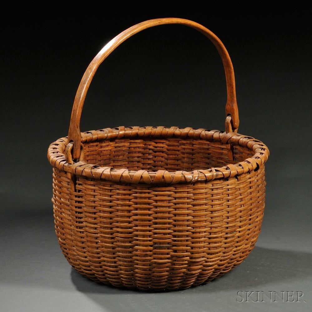 Large Round Oak Splint Basket