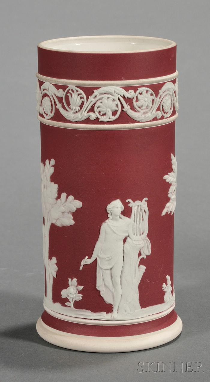 Wedgwood Crimson Jasper Dip Spill Vase