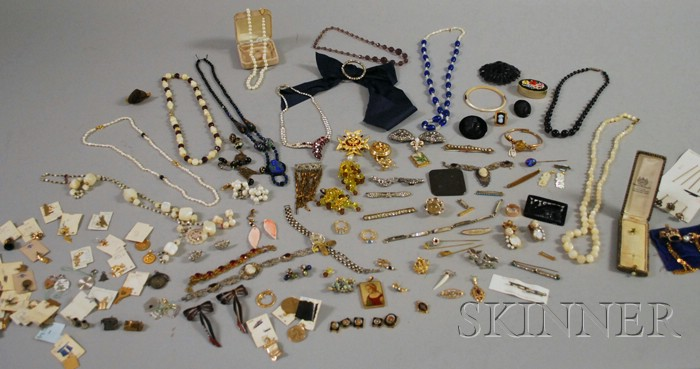 Large Group of Antique and Costume Jewelry