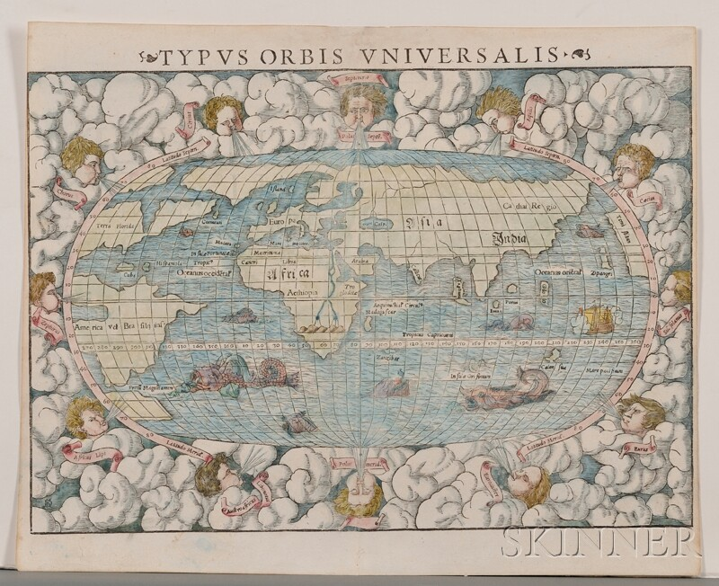 (Maps and Charts, World Projection), Muenster, Sebastian (1489-1552)