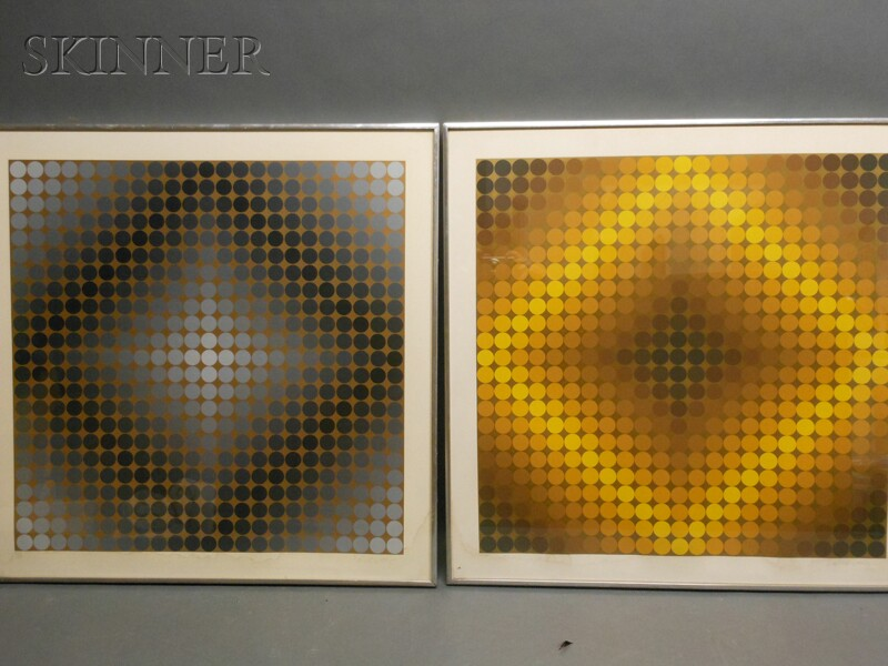 Victor Vasarely (Hungarian/French, 1906-1997)      Two Op Art Images: Diago CC