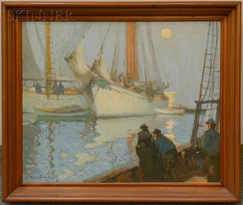 Henry Hobart Nichols (American, 1869-1962)      Vessels in Moonlight