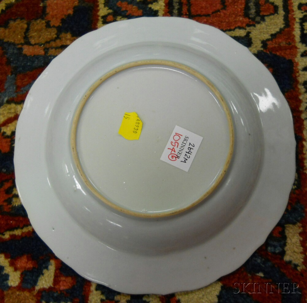 Six Chinese Export Porcelain Plates