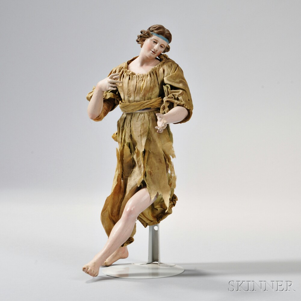 Neapolitan Creche Figure of a Angel