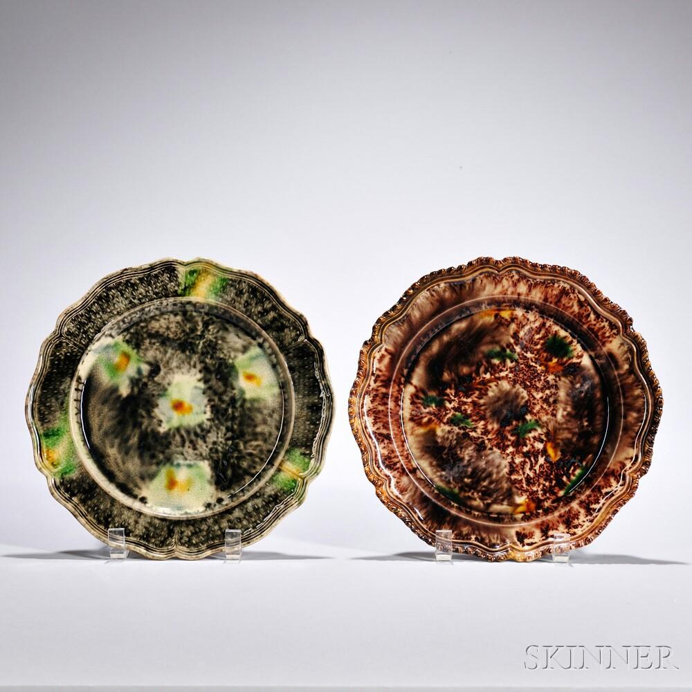 Two Lead-glazed Earthenware Plates