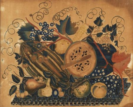 American School, 19th Century  Still Life of Fruit.