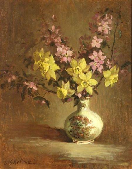Lois McCune (American, 20th Century)  Floral Still Life
