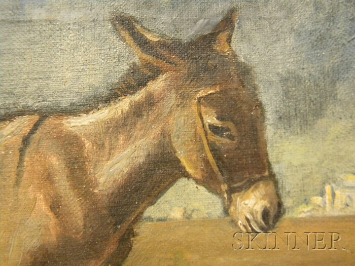 Attributed to Edwin Lord Weeks (American, 1849-1903)      Donkey in the Desert
