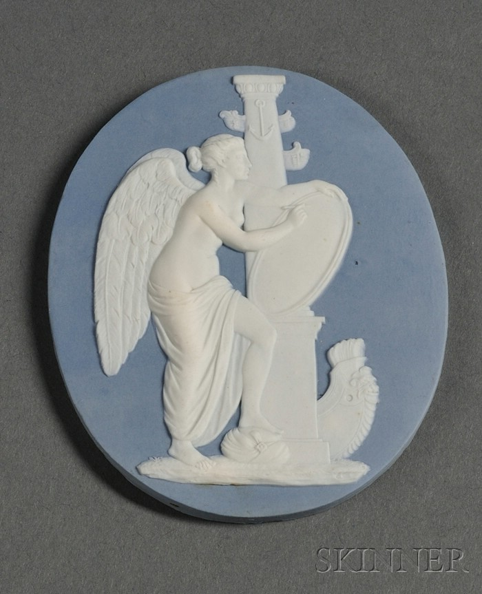 Wedgwood and Bentley Pale Blue Jasper Medallion
