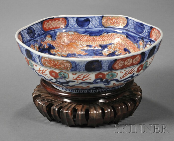 Imari Porcelain Center Bowl