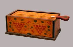 Terence Graham Paint Decorated Wood Candlebox.