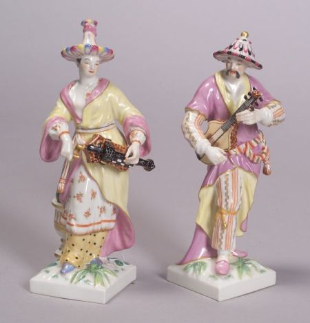 Pair of Berlin Porcelain Malabar Figures