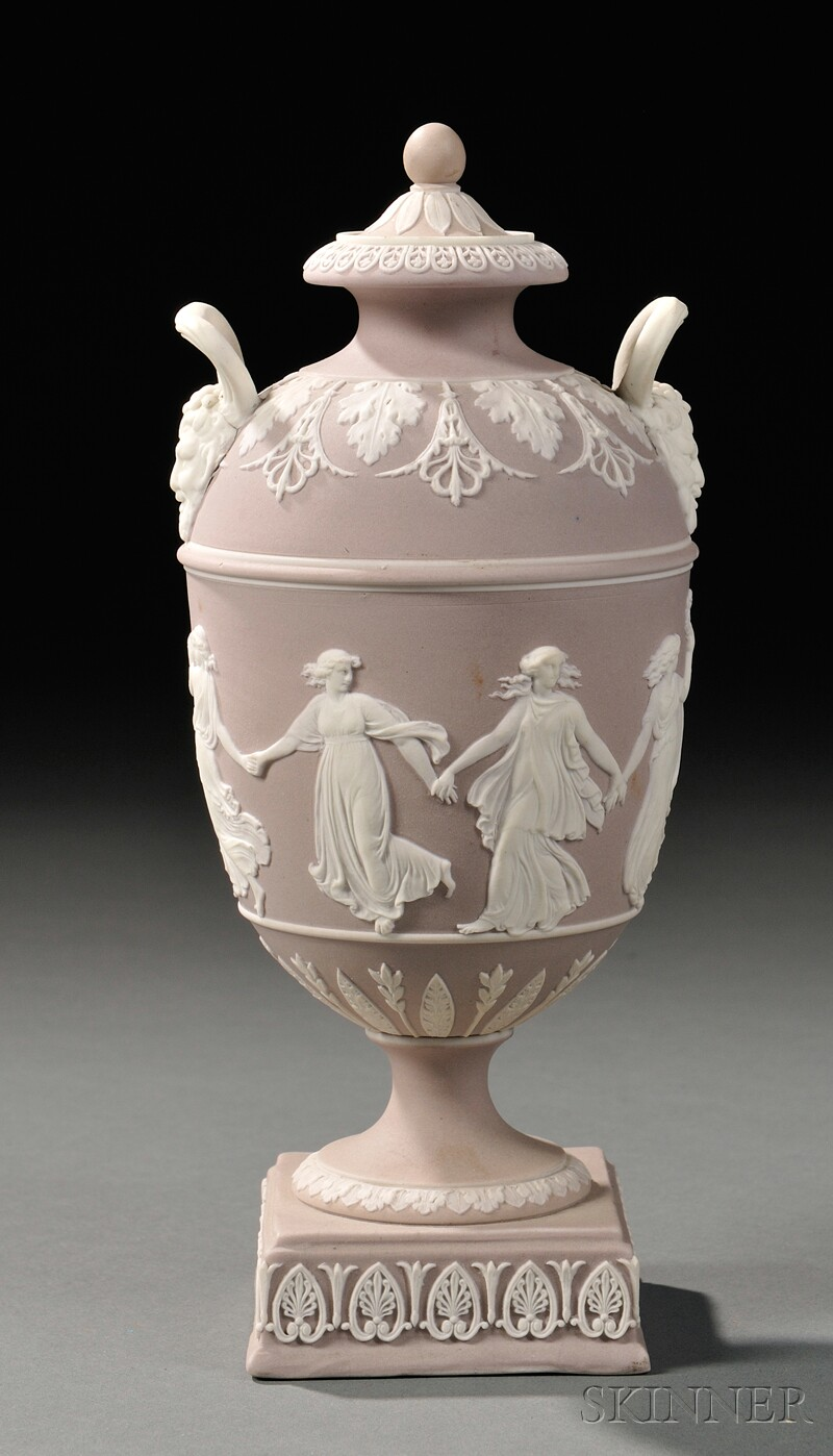 Wedgwood Lilac Jasper Dip Vase and Cover