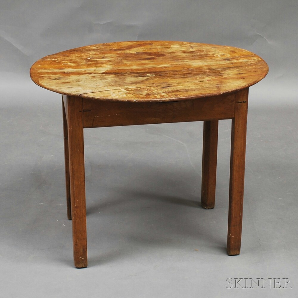 Country Maple Oval-top Tea Table