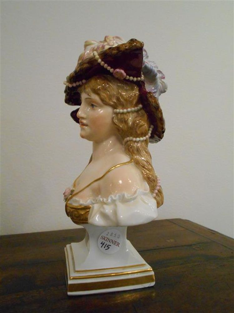 Meissen Porcelain Bust of a Lady