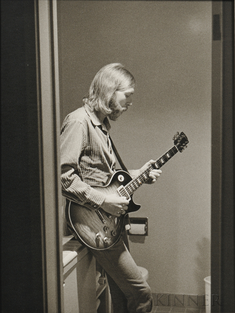 Jim Marshall (American, 1936-2010) Duane Allman, 1970, printed later. Inscribed 7213-7 in black ink and with Marshalls San Francisco
