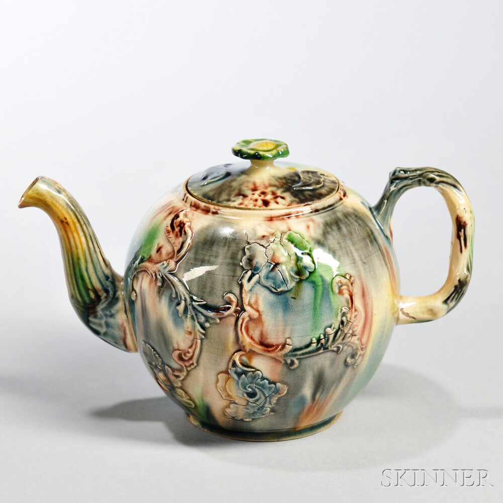 Lead-glazed Earthenware Teapot and Cover