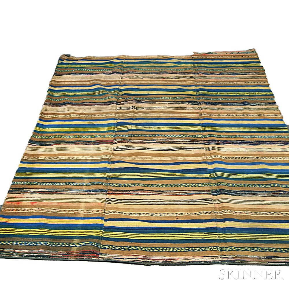Striped-pattern Rag Rug