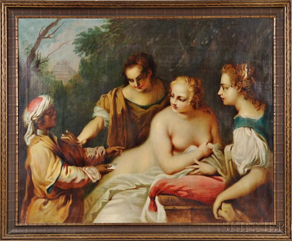 After Jacopo Amigoni (Italian, 1682-1752)      The Messenger (Bathsheba at her Bath)