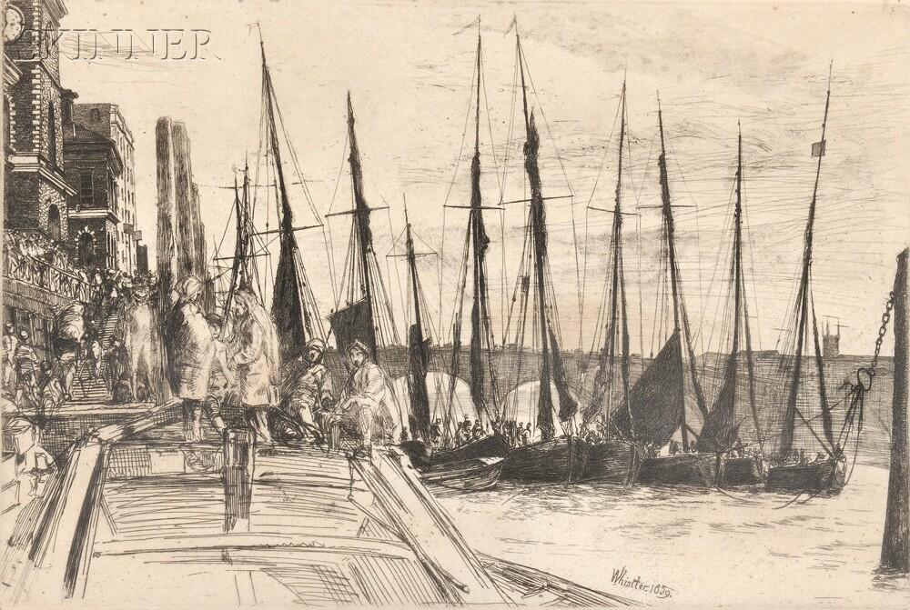 James Abbott McNeill Whistler (American, 1834-1903)      Billingsgate