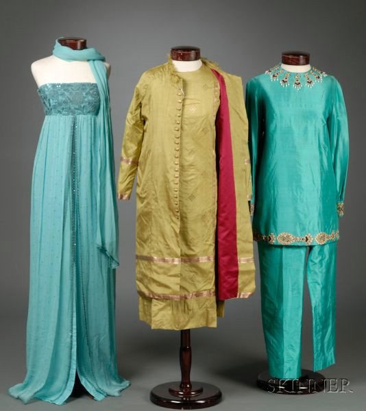 Three Indian Silk Outfits