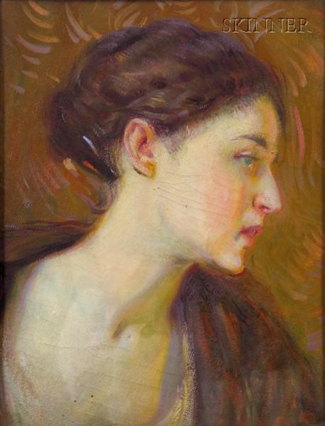 William Cushing Loring  (American, 1879-1959)      Miss Whiting of Boston