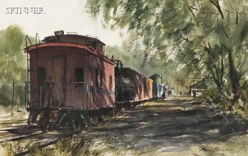 Ray G. Ellis (American, b. 1921)      Rail Cars