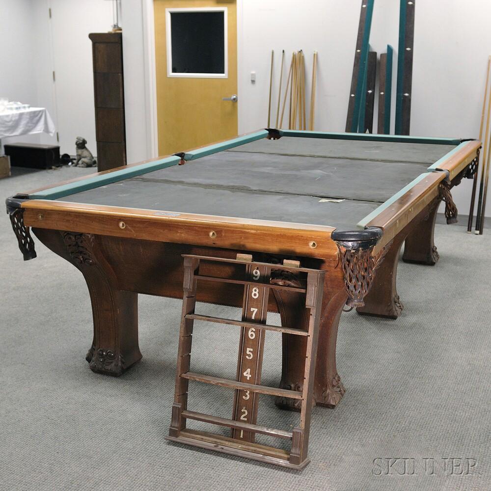 Superieur Oak Pfister Six Leg Combination Pool Table ...