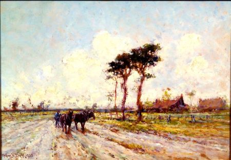 Arthur Vidal Diehl (American, 1870-1929)    Plowing the Field
