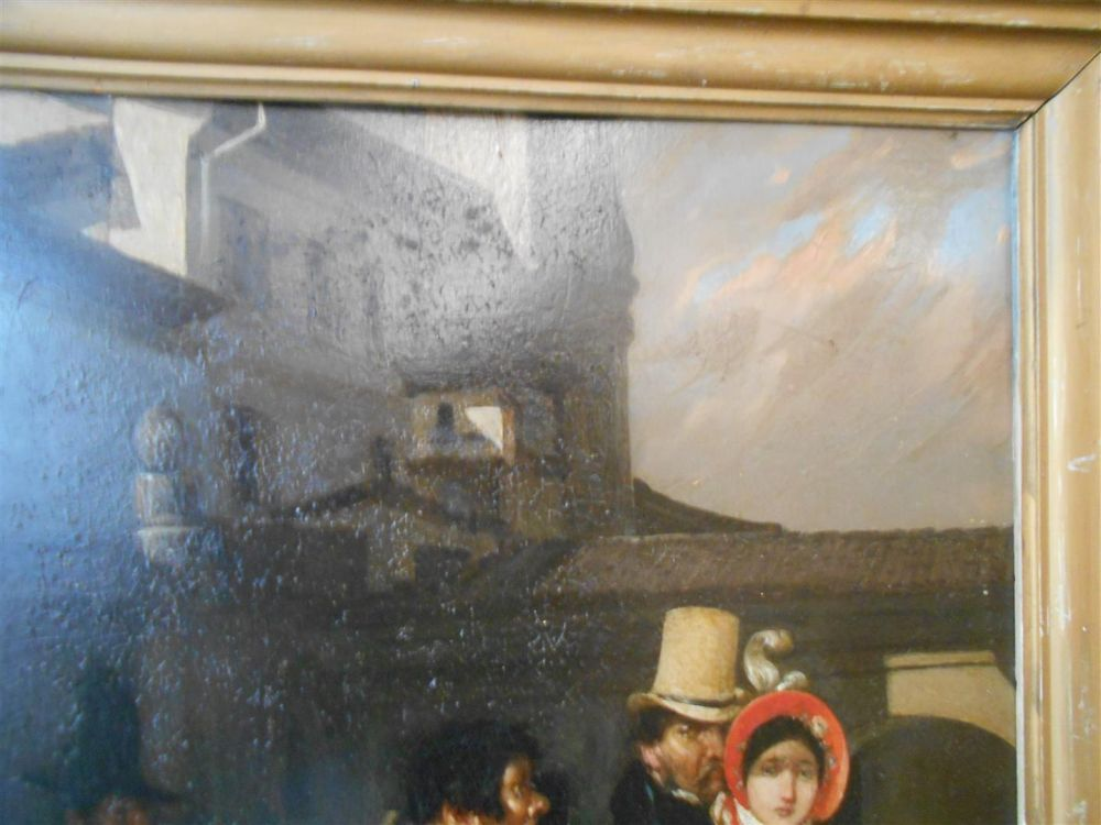 Continental School, 19th Century      The Encounter of Rich and Poor