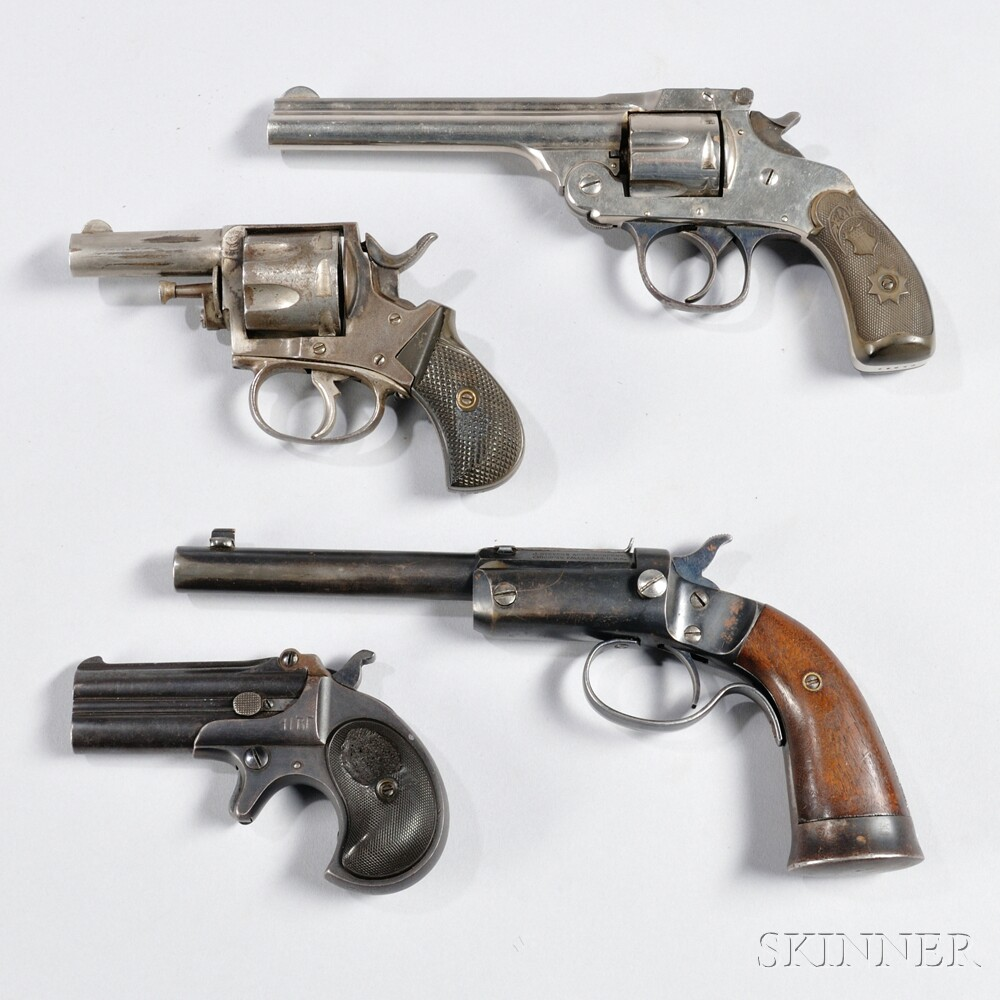 Four Early Pistols and Revolvers