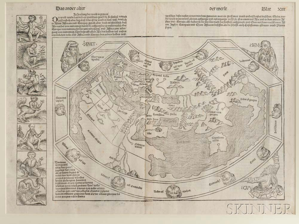 World Map. Hartmann Schedel (1440-1514) Das Ander Alter der Werlt.