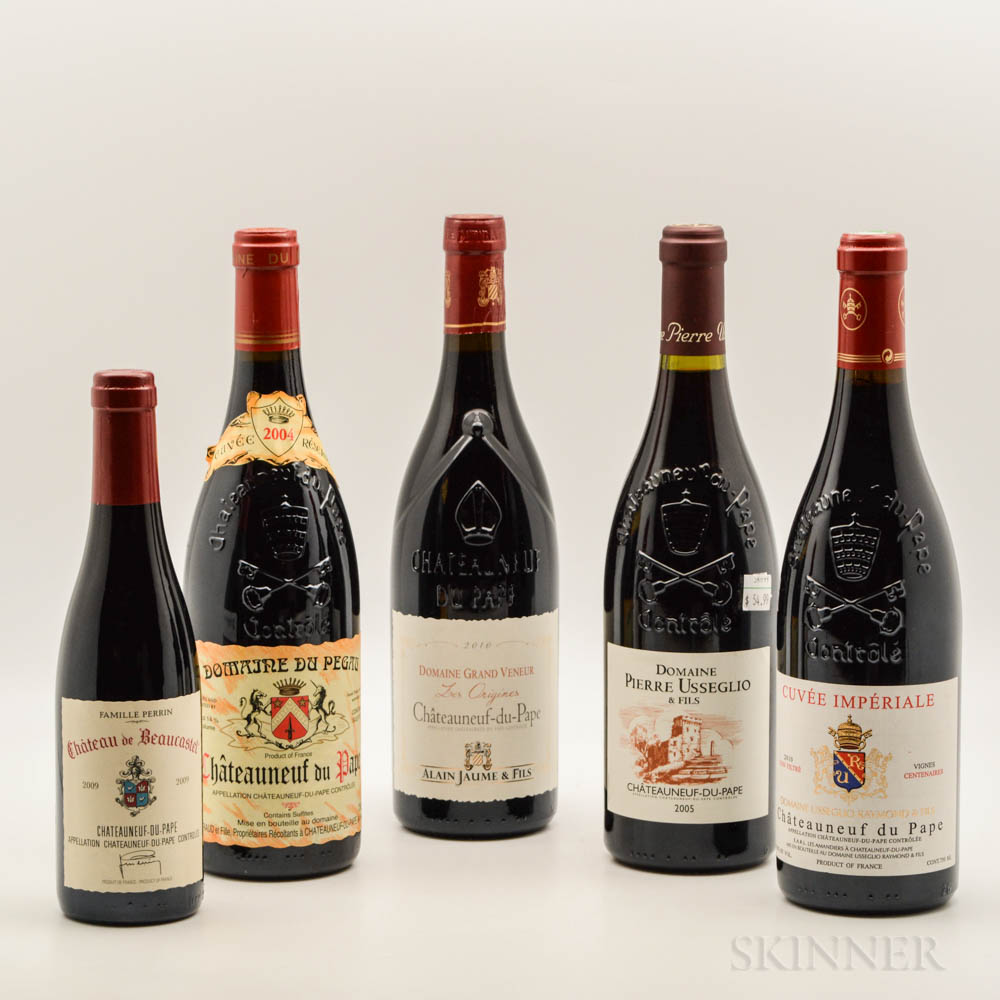 Mixed Chateauneuf du Pape, 1 demi bottle 4 bottles